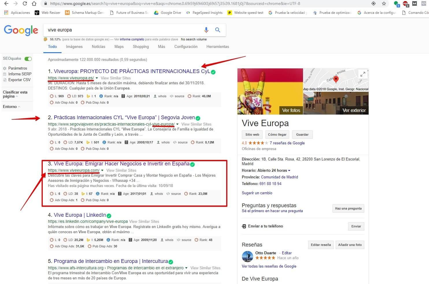 SITELINK-ORO #2: Debes estar seguro de que el nombre de tu sitio web es únic