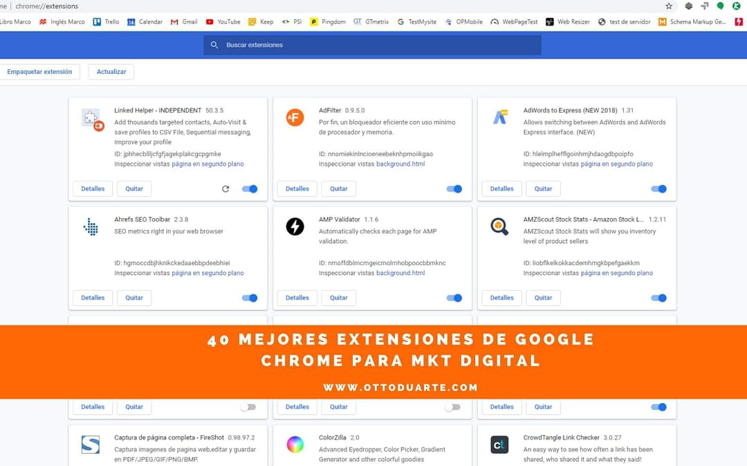 40 Extensiones de Google Chrome para Marketing Digital