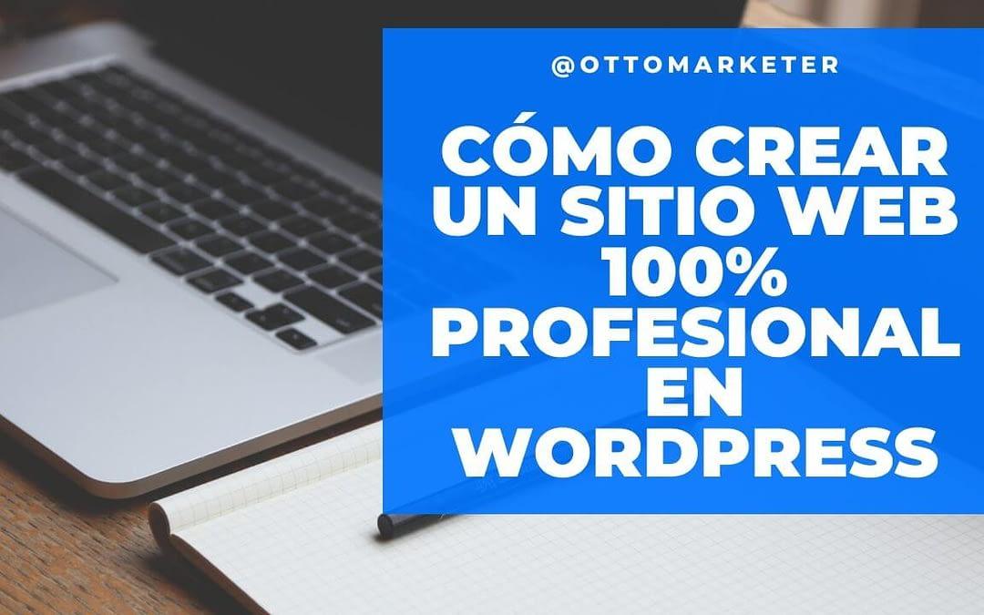 como crear una página web 100% profesional